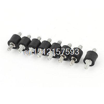 "8pcs Rubber Shock Absorber Vibration Isolator Mounts 3/8"" x 3/8"""