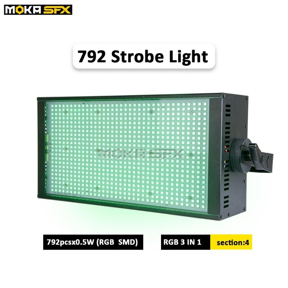Новый продукт 792*0,5 Вт светодиодный стробоскоп 4 сегмента DMX стробоскопы Авто Изменение Красочные партии стробоскоп свет для бара диско