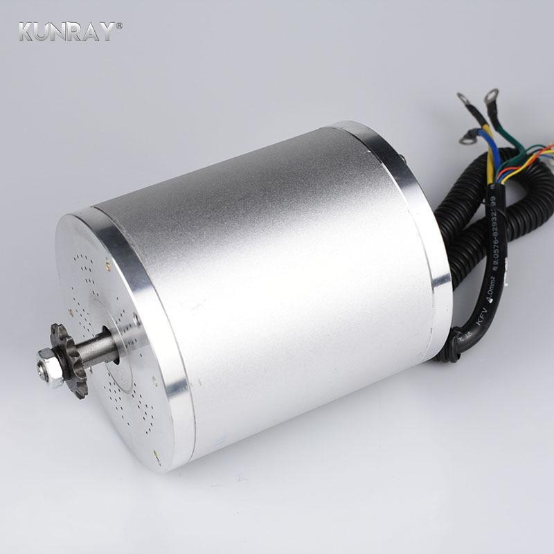 Motor eléctrico de la bicicleta de la VESPA eléctrica sin escobillas 48V 1500W 1600W Motor de la rueda de la bicicleta de 4100RPM con el piñón de 25H T8F LM
