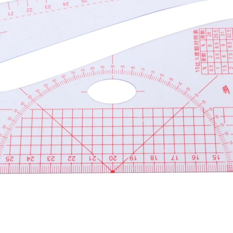Многофункциональная швейная линейка, измерительная линейка для изготовления одежды, пластика