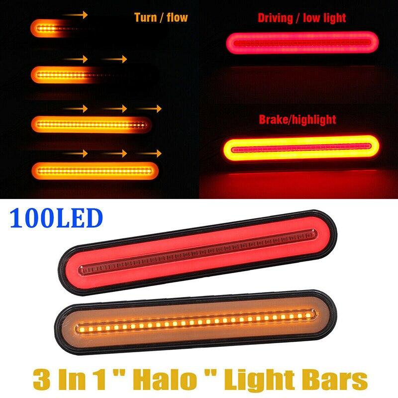 2 шт. супер яркий трейлер стоп задние фонари 12-24 В неоновая лампа LED RV трейлер стоп течет сигнал поворота Стоп задний фонарь