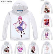 COOLPRINT futur journal Mirai Nikki Hoodies sweat à capuche japonais Anime Gasai Yuno Juno deuxième futur journal Cosplay Sweatshirts
