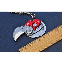 Mini-couteau à monnaie pliant   Auto-défense personnelle, outil de transport EDC petit couteau de poche, porte-clés avec porte-clés suspendu, survie pour lextérieur