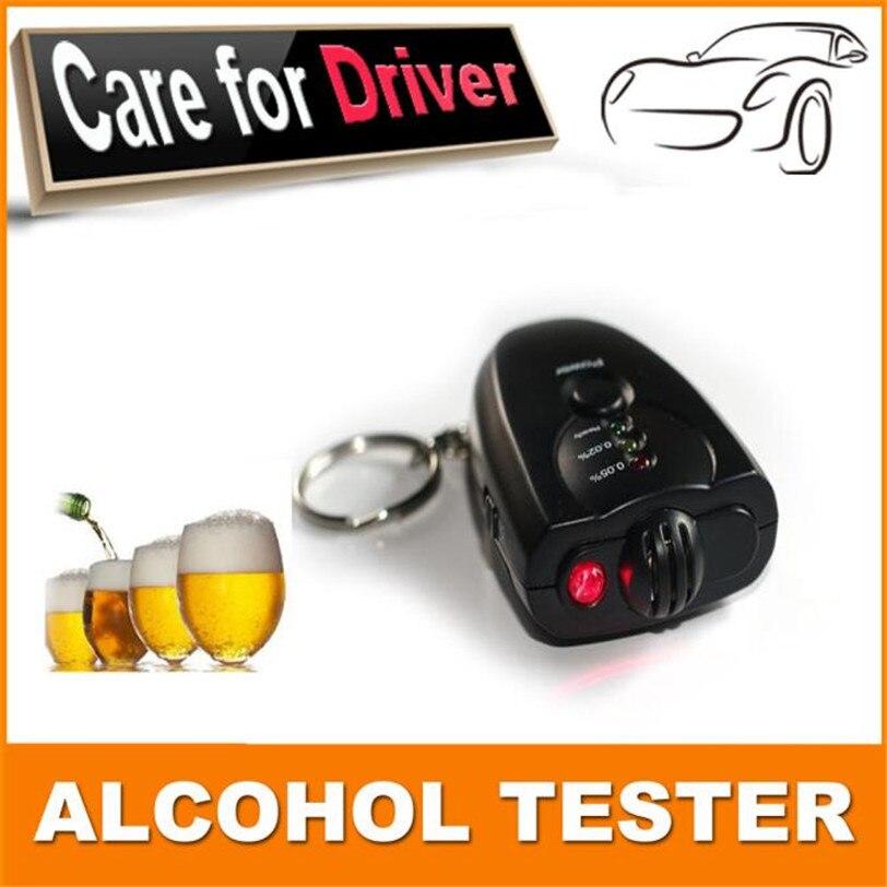 Carro chaveiro álcool testador digital bafômetro álcool respiração analisar testador carro-estilo do veículo de alta qualidade