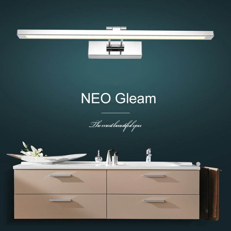 NEO Gleam Mirror light led bathroom wall lamp mirror glass waterproof anti-fog brief modern stainless steel cabinet led light  - buy with discount