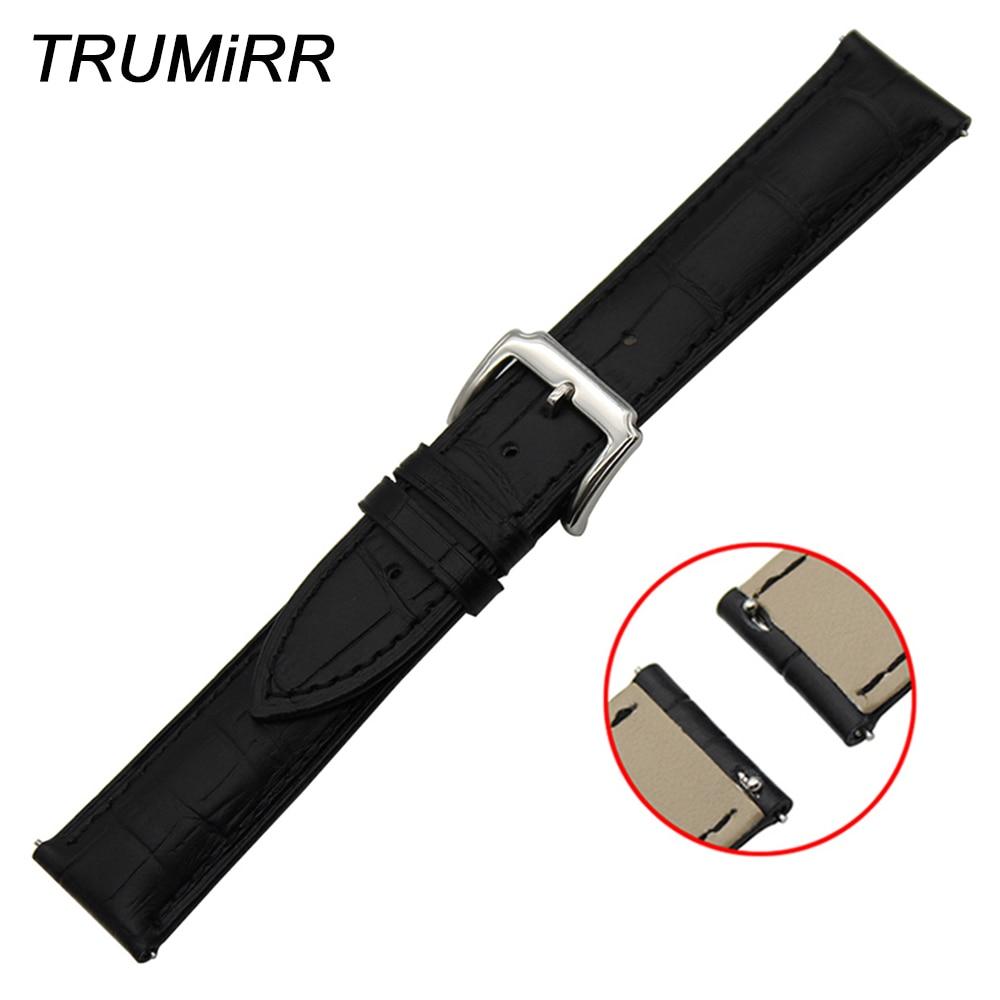 Pulseira de couro genuíno de camada superior pulseira de liberação rápida para patek philippe blancpain pulseira de relógio de pulso 18mm 20mm 22mm
