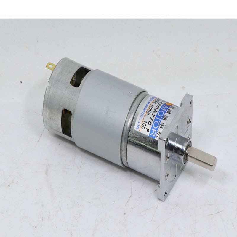 Мотор-редуктор постоянного тока, 12 В/24 В, высокая мощность и большой крутящий момент 775, двигатель скорости CW/CCW