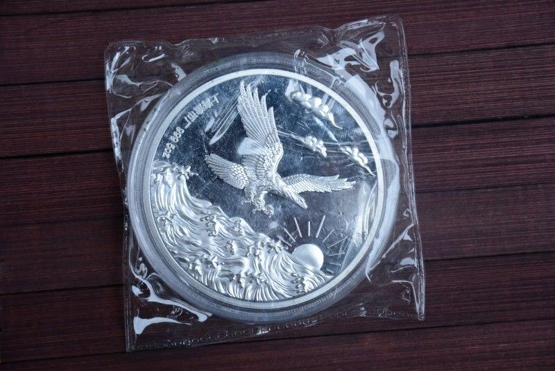 Seltene 999 Shanghai Mint 5 unzen Silber Münze, adler, 1990, freies verschiffen