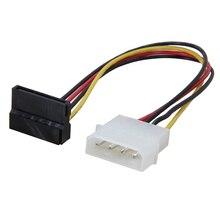 8 pouces Molex 4 broches LP4 mâle à SATA alimentation 15 broches 90 degrés adaptateur câble de convertisseur pour ATX 12 V/5 V et disque dur HDD/SSD