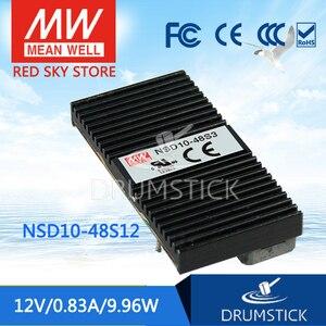 MEAN WELL NSD10-48S12 12V 0.83A meanwell NSD10 12V 9, 96 W DC-DC Регулируемый одновыходной преобразователь