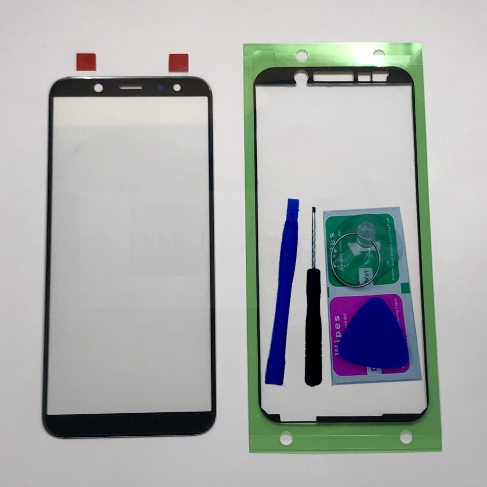 Для Samsung Galaxy J6 Plus J6 + 2018 J610 J610F J610FN J610G Оригинальный сенсорный ЖК-экран для телефона передняя внешняя стеклянная панель Замена