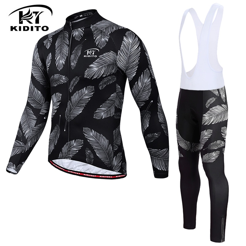 Conjunto de Jersey térmico de invierno de manga larga para ciclismo KIDITOKT 2020, ropa de ciclismo de montaña, ropa de ciclismo cálida