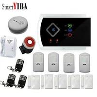 SmartYIBA     systeme dalarme de securite domestique Anti-vol Gsm SMS  99 Zones sans fil  capteurs de fumee et dincendie  voix espagnole  russe et tcheque