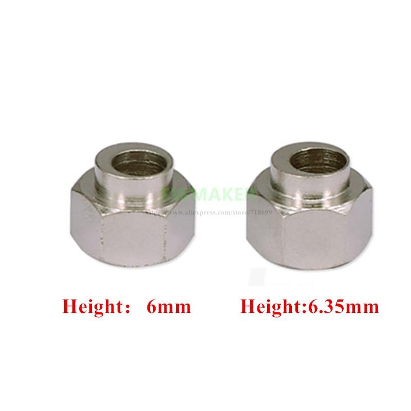10 Uds. 6mm/6,35mm diámetro excéntrico del espaciador 5mm para las piezas de bricolaje Reprap 3D de la impresora buey/Shapeoko CNC
