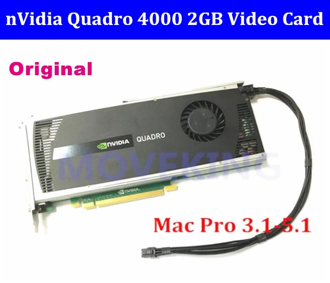 High quality Quadro 4000 Q4000 2G DDR5 cards with DVI DP connector CUDA OpenCL for mac pro 2008-2012 sent by DHL/EMS
