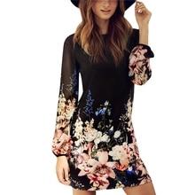 Women Dress Elegant Floral Print Work Business Casual Party Summer Sheath Vestidos