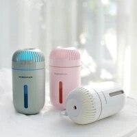 Humidificateur ultrasonique de 310ML pour maison et voiture  mini diffuseur dhuile essentielle  fonction de chargement usb  veilleuse LED 3 couleurs