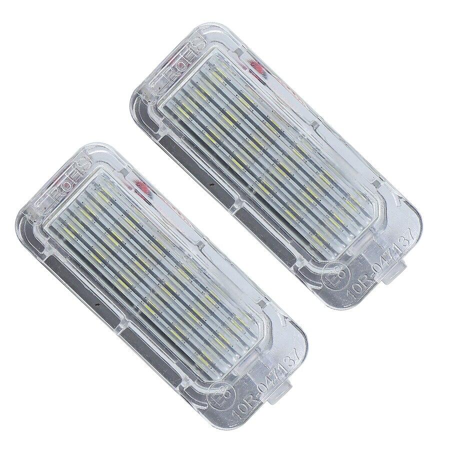 2 pièces LED numéro arrière plaque dimmatriculation lumière plaque dimmatriculation lampe blanc brillant pour pour Fiesta pour Focus pour Kuga pour Mondeo