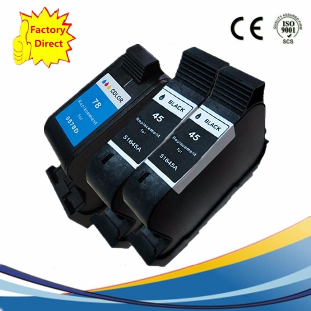 Cartuchos de tinta remanufacturado para HP45XL 78XL DeskJet serie 6127, 930, 9300, 932 C, 935, 950, 952, 959, 960, 970, 980 Cse Cxi