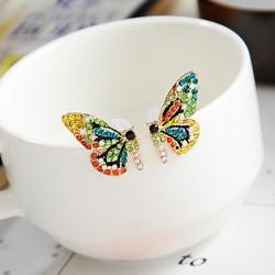 Новые модные женские серьги-гвоздики, ювелирное изделие, цветные серьги, фея, темперамент, подвеска, бабочка, Джокер, индивидуальный подарок