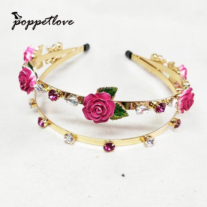 Luxus doppelschicht Gold Perle Strass Haarbänder Crown Kristall Braut Kopf band Hochzeit Haarteil Zubehör Schmuck Tiara