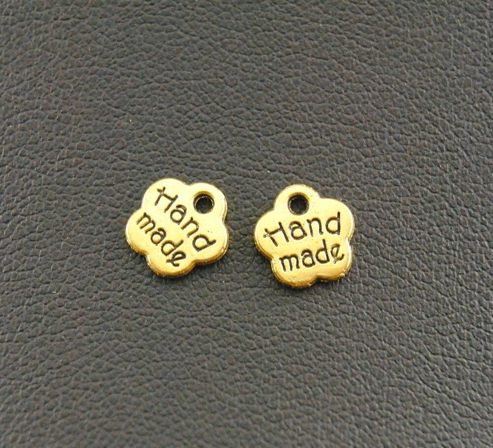 MRHUANG 30 unids/pack DIY pulseras accesorios antiguo Vintage aleación hecho a mano colgante de colgantes de palabras de amor