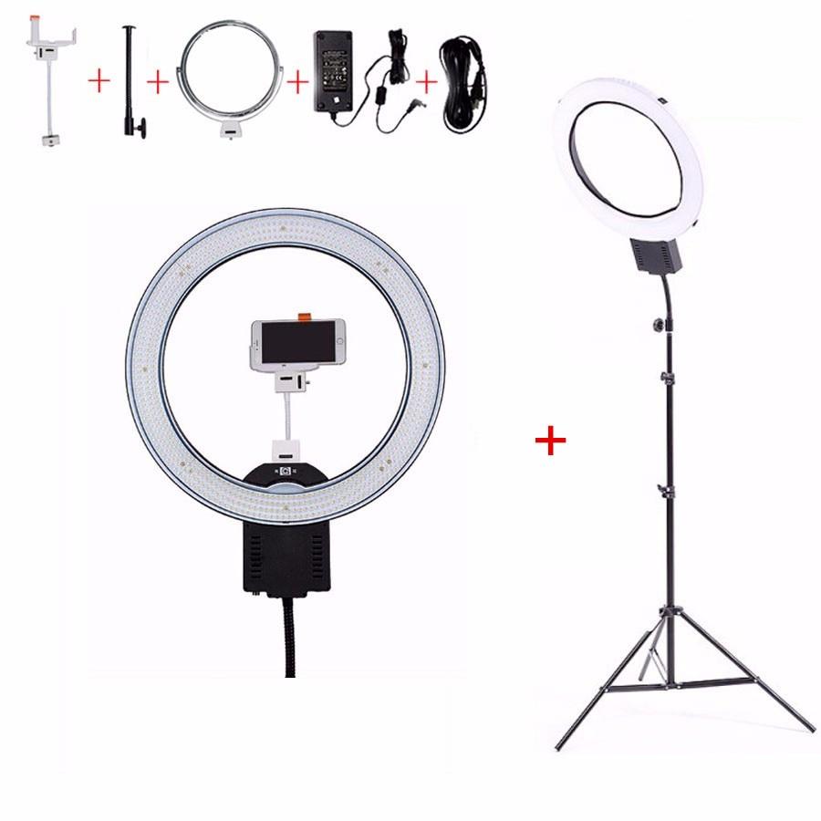 "NanGuang CN-R640 19 ""Foto Video Studio Telefon Ringförmige Lampe 640 LED Kamera Ring Licht Für Make-Up Fotografie Beleuchtung Mit stativ"