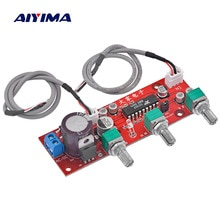 AIYIMA XR1075 BBE Mini Tone Audio Board BBE Preamp Treble Bass Adjustment Preamplifier Board DC 12V-24V AC 9V-16V