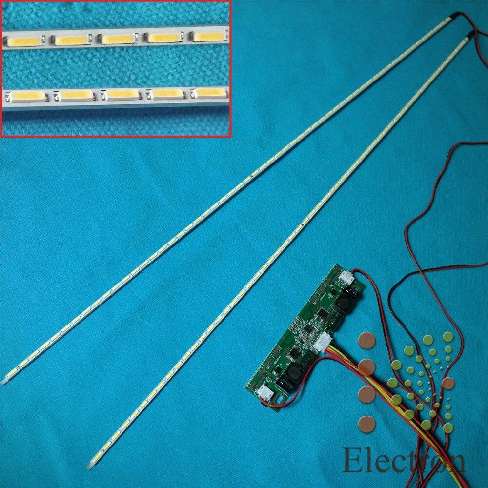 Kit de actualización de tiras de lámparas de luz de fondo LED de 724mm placa de aluminio con inversor de 26 ''-65'' para pantalla LCD de 65 pulgadas Panel de TV de Alta Luz