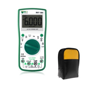 The latest professional digital display multimeter portable handheld BEST 58X high precision power supply voltage meter with bag