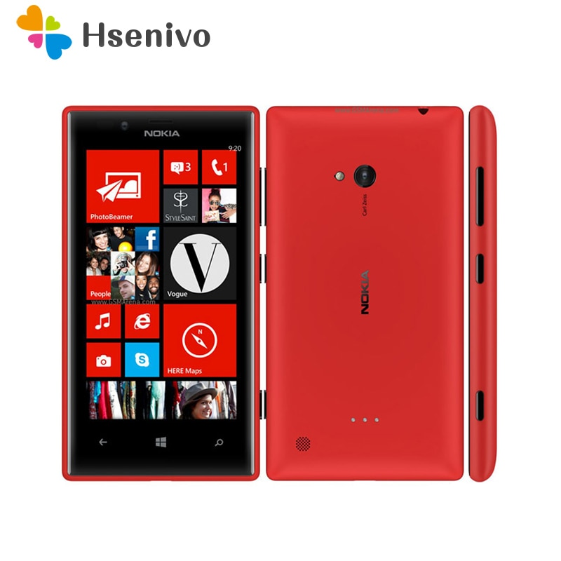Nokia Lumia 720 reformado-Original desbloqueado Lumia 720 Windows Phone 8 Dual-core 1,0...