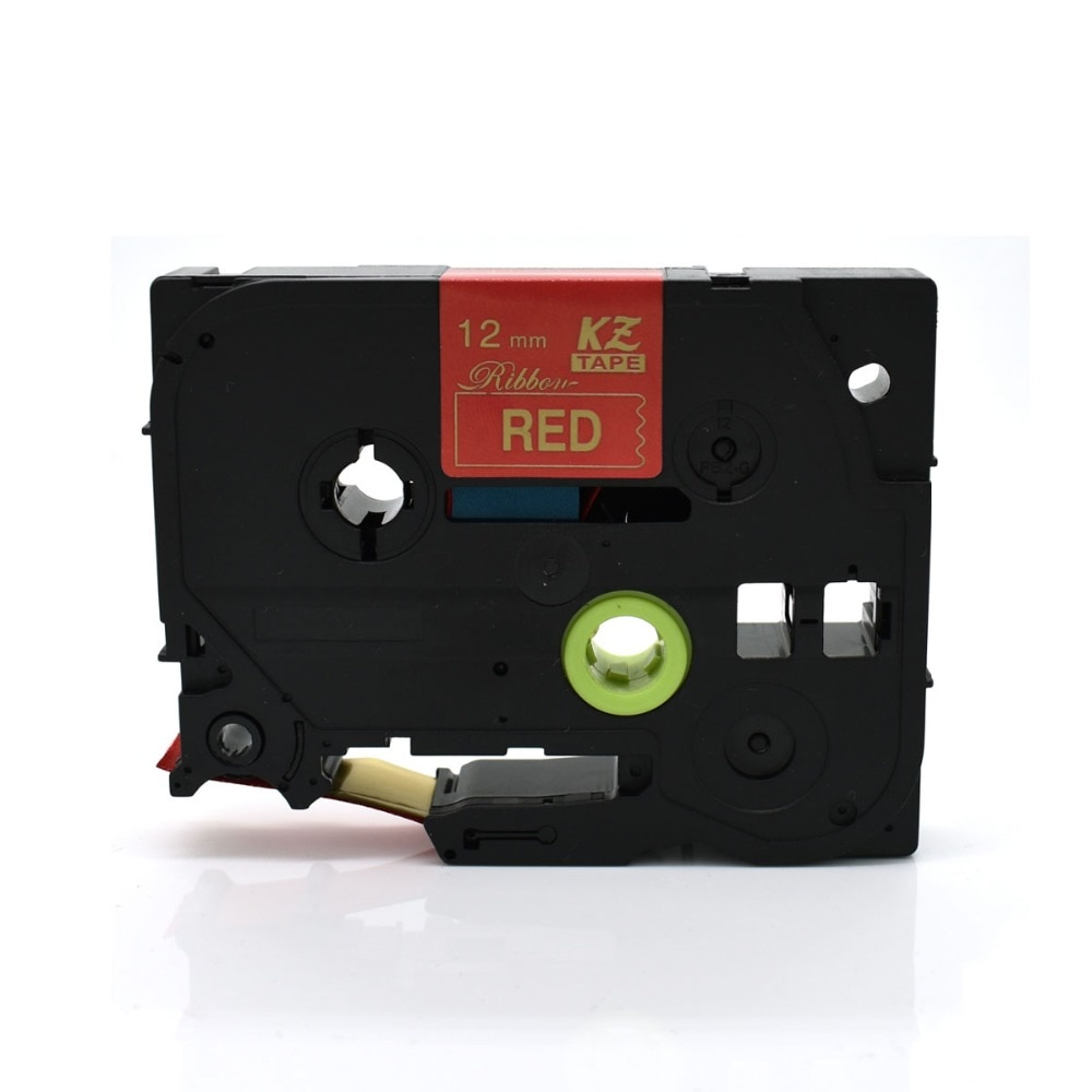 CIDY TZe-RW34 для TZe атласная лента совместима с Brother P Touch 12 мм * 4 м золотой на красном TZ-RW34 tze RW34 TZ RW34