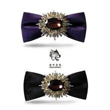 Robe à nœud papillon pour hommes   Nouvelle collection, à la mode, avec cravate, pour marié marié britannique, homme dhonneur, coréen de grande qualité, en promotion, livraison gratuite