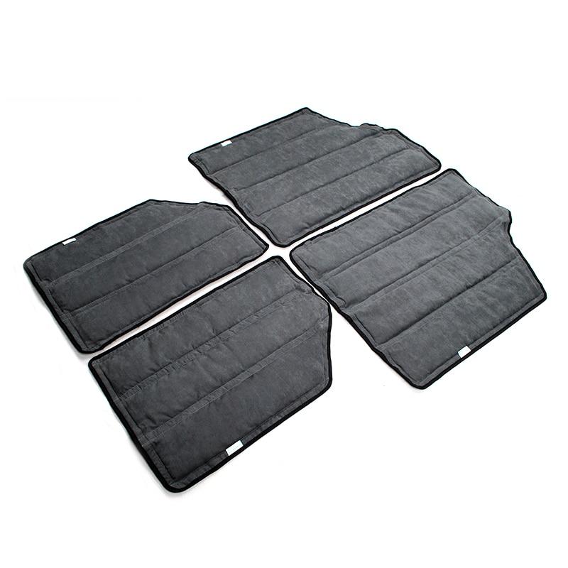 رمادي أسود الصلب أعلى العزل عدة ل جيب رانجلر JK 12-16 2-الباب 82212463AC ، 12109.03