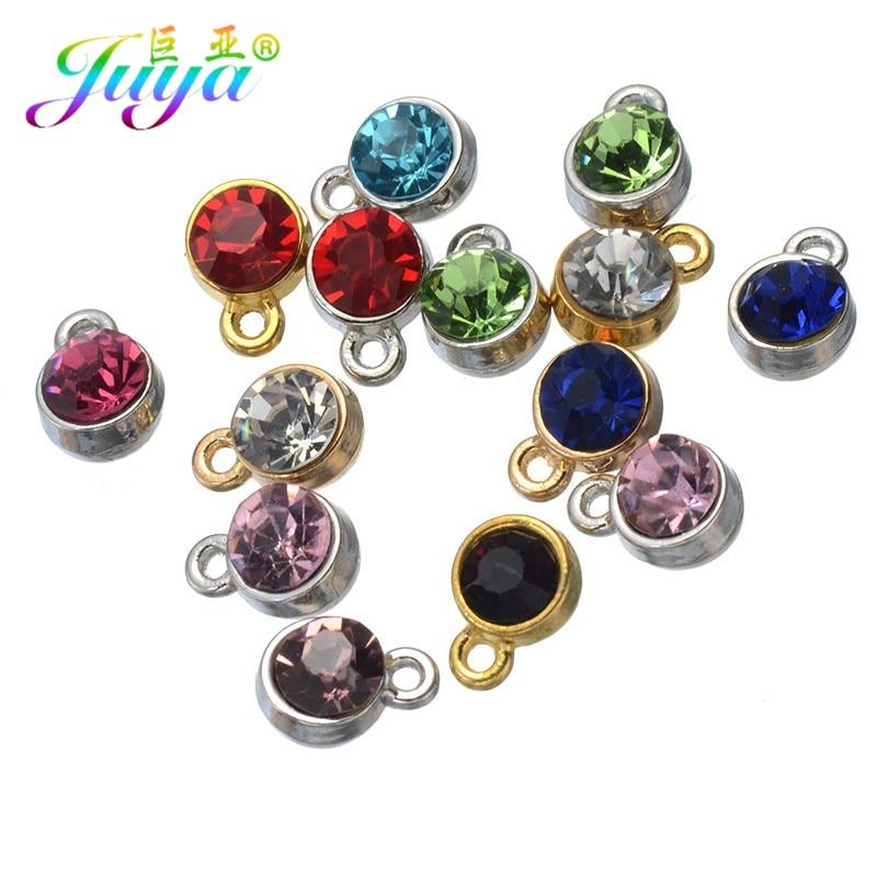 30 шт./лот, оптовая продажа, шармы со стразами для женщин, серьги, браслеты, ожерелье