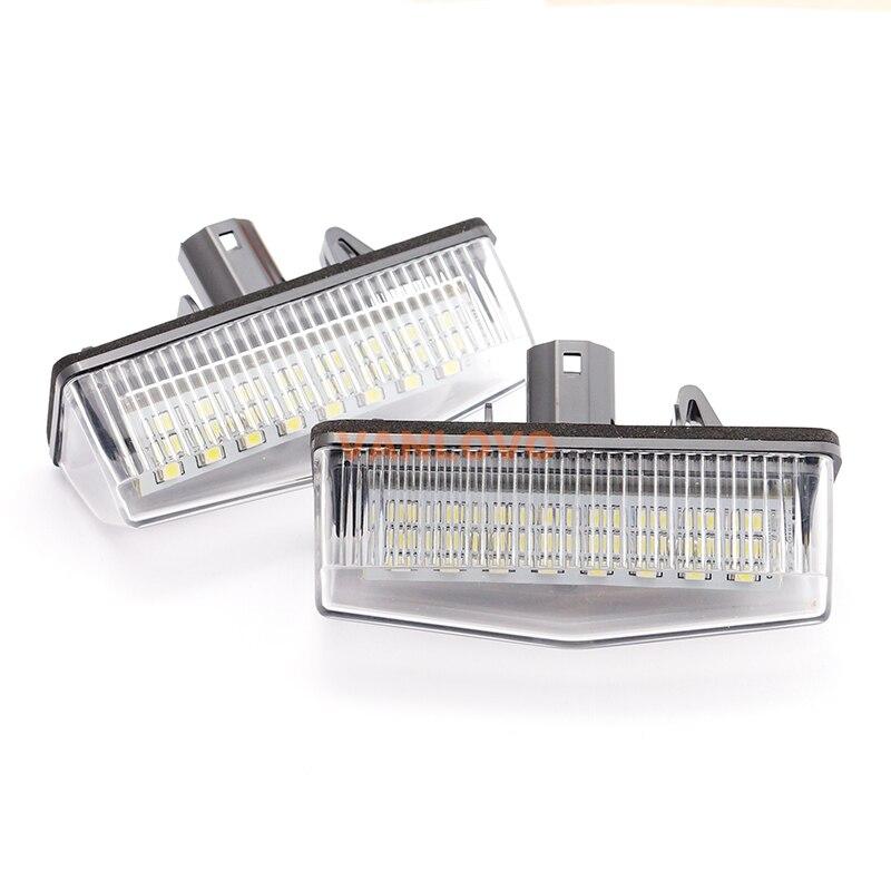 2x 24-SMD LED License Plate Light Bulbs for Lexus CT200h ZWA10 BRIGHT WHITE