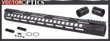 Vector Optics M-LOK 17 inch Free Float Handguard Picatinny Rail Mount Bracket with Steel Barrel Nut Shims fit AR15 M4 M16