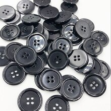 50 pcs 25mm 블랙 컬러 4 구멍 flatback 플라스틱 단추 셔츠 단추 의류 바느질 액세서리 ph245