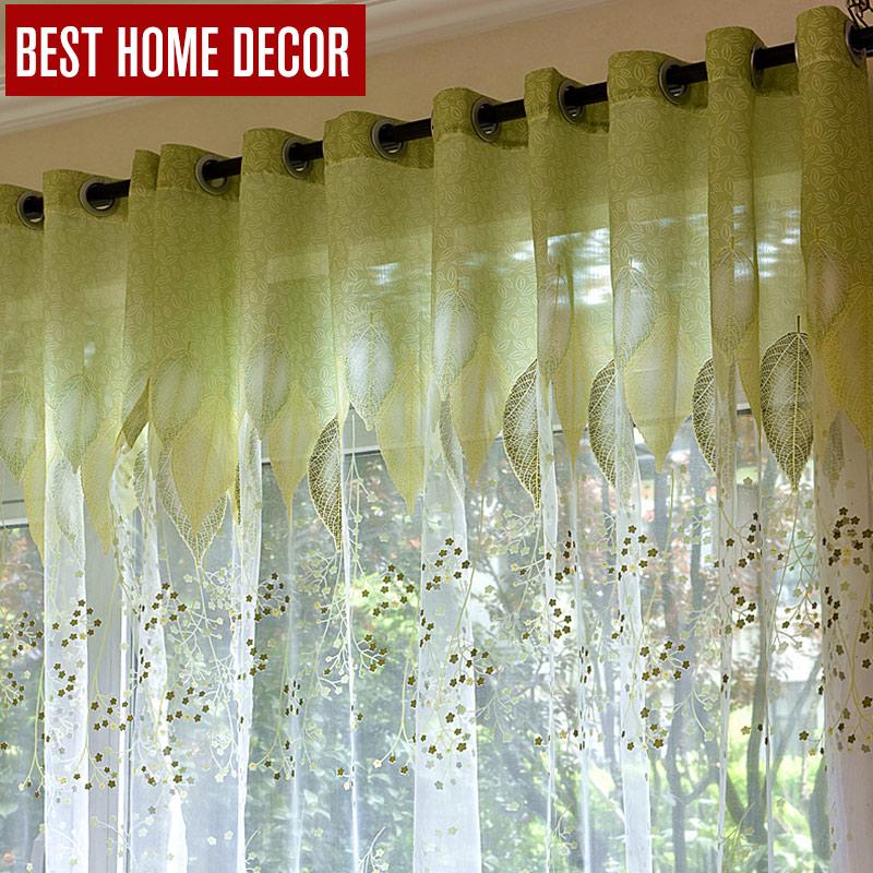 cortinas opacas dormitorio cortinas salon beige tul cortinas de la ventana para la sala de estar del dormitorio la cocina moderno tul cortinas verde hojas de tela persianas cortinas