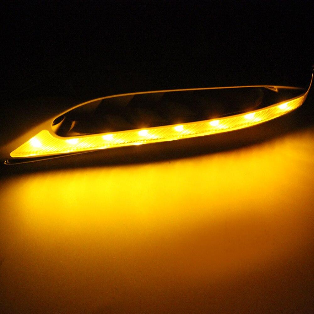 LEEPEE 1 pair 46LED Car Side Turn Signal Lights 3W Auto accessories 12v Blade Shape Car Side Lights