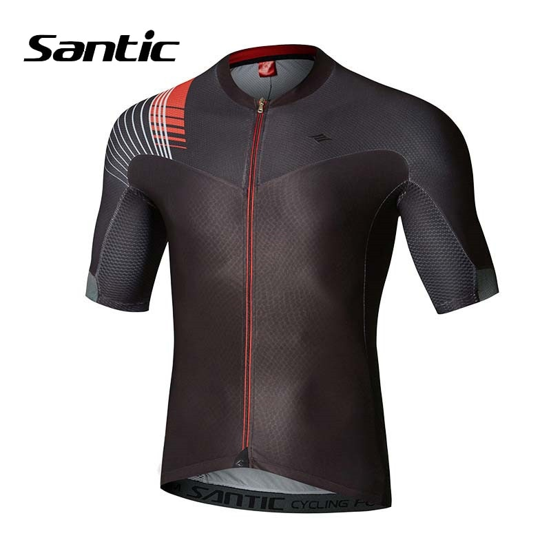 Santic-Camiseta para Ciclismo de montaña, de manga corta y antisudor para hombre