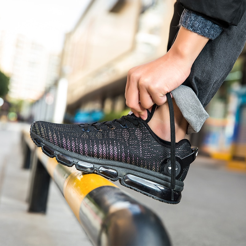 Купить с кэшбэком ONEMIX Running Shoes For Men Sports Sneakers For Women Reflective Mesh Vamp Sneakers For Outdoor Sports Jogging Walking Shoes