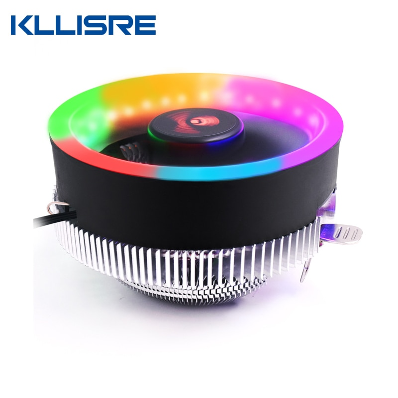 Kllisre ПК Процессор радиатор с системой охлаждения светодиодный диафрагма Процессор охлаждения бесшумный вентилятор радиатора для Intel 775/1155/...