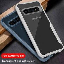 Border Phone Case For Samsung S10e S10 S9 Plus Transparent Cover Anti-Knock Shell For Samsung S10 E S 10 9 Plus TPU Cover Case