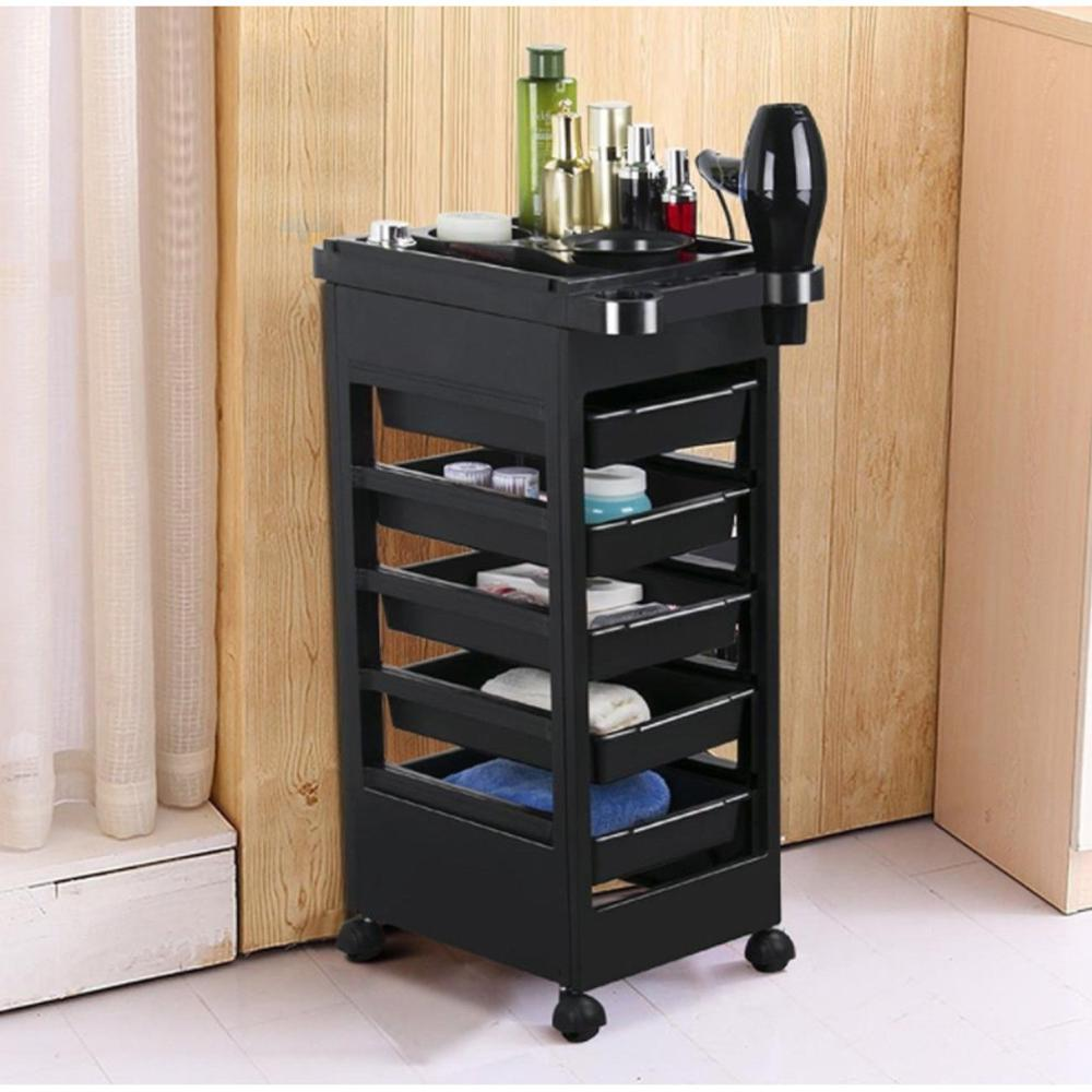 Professional 5 Drawers Salon Hairdresser Trolley Barber Hairdressing Hair Rolling Beauty Storage Colouring Styling Tools