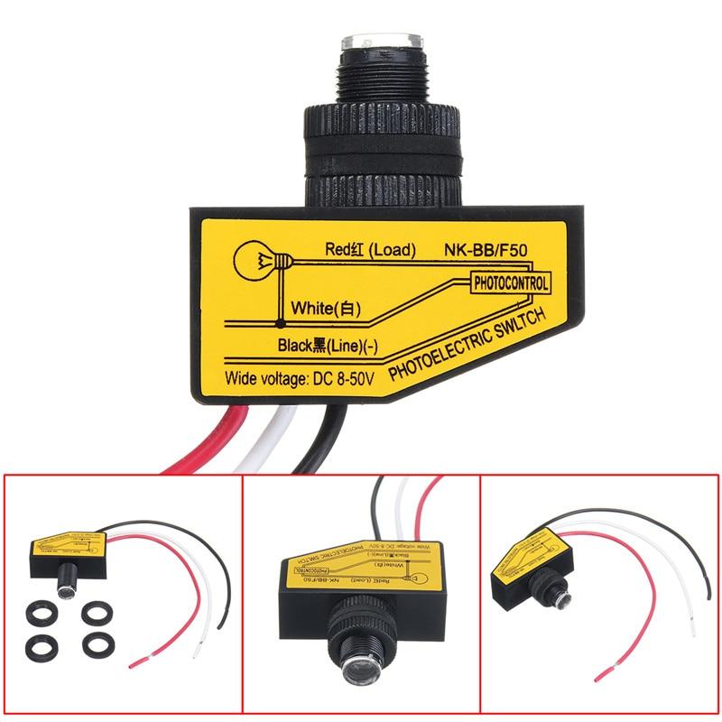 Photocellule à distance 12V 24V 36V 48V cc   Interrupteur de contrôle de rue automatique allumé/OFF Auto, crépuscule vers laube, 1 pièce