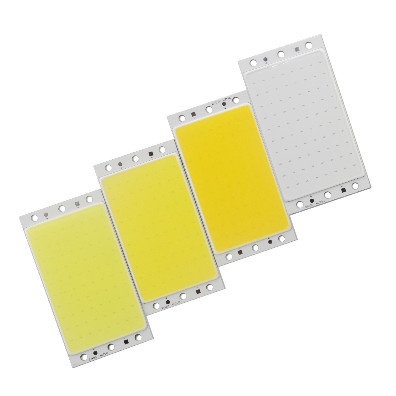 Горячая продажа 12В 94 мм 50 мм Светодиодные COB полосы чип с RF контроллер света 16 Вт натуральный теплый белый синий COB LED для DIY автомобильных лам...
