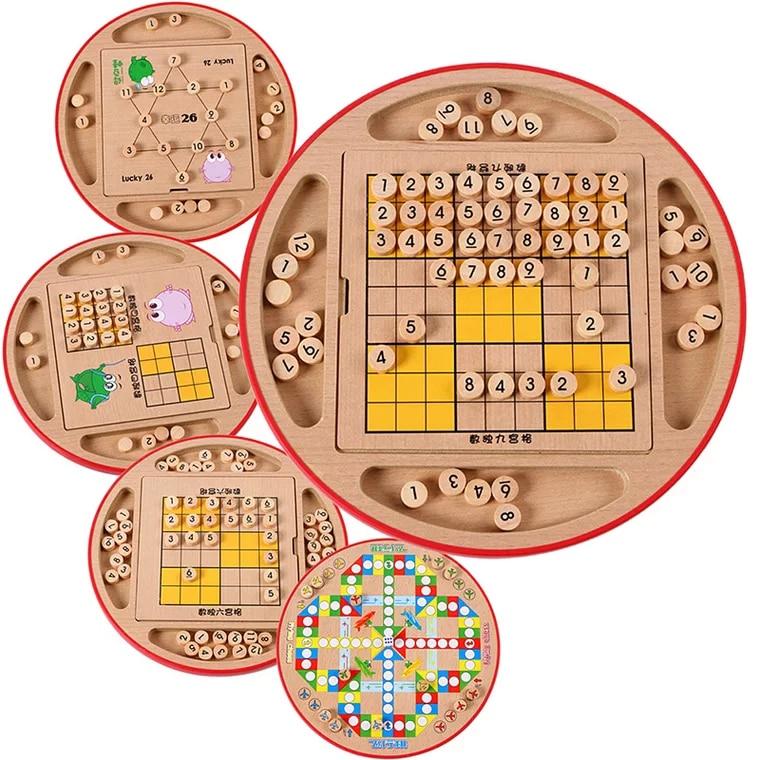 Детские шахматы Sudoku с цифрой пять в одном, 28*28,5*4,5 см, 100 шт., умные модные Развивающие деревянные игрушки, веселые игровые подарки