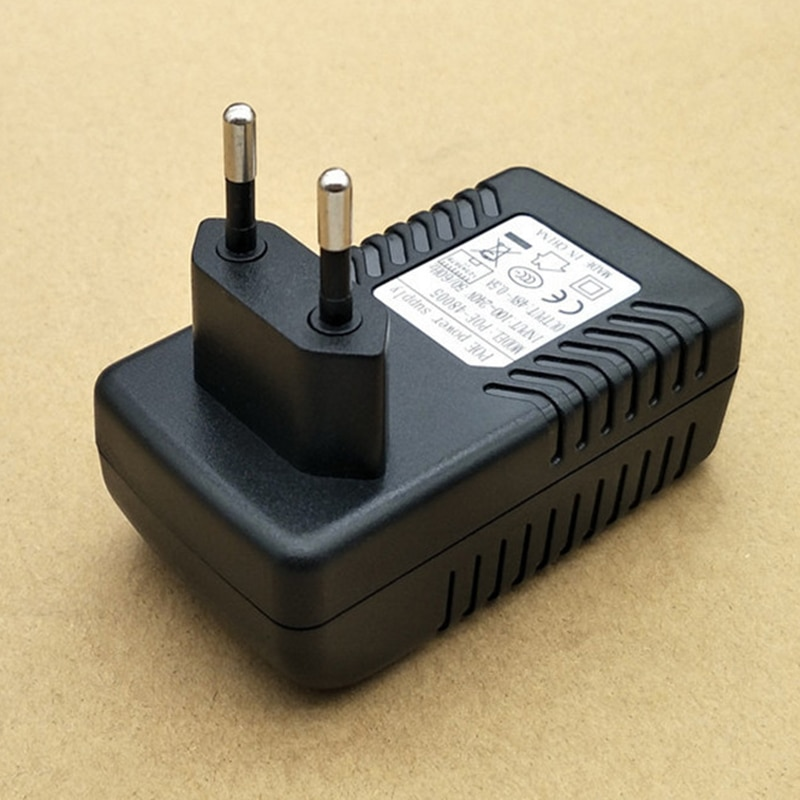 48V 0.5A  POE Wall Plug POE Injector Surveillance CCTV Security Ethernet Adapter IP Camera  24W PoE Power Supply US EU Plug enlarge