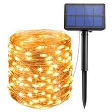 2 Pack LED Outdoor Solar Lampen 10 m/20 m LED Lichterketten Fee Urlaub Weihnachten Party Girlanden Solar garten Wasserdicht Lichter